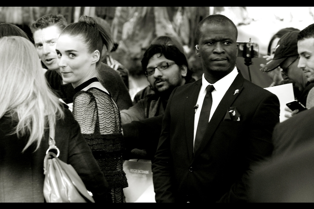 Rooney Mara flits away, probably suspecting I'll be so shallow as to heavily prioritise taking photos of model Cara Delevingne once she shows up.