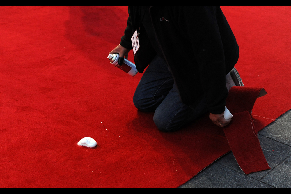 When somebody mistakenly treads some chewing gum into a red carpet, there are apps (or failing that, magic sprays) for that.