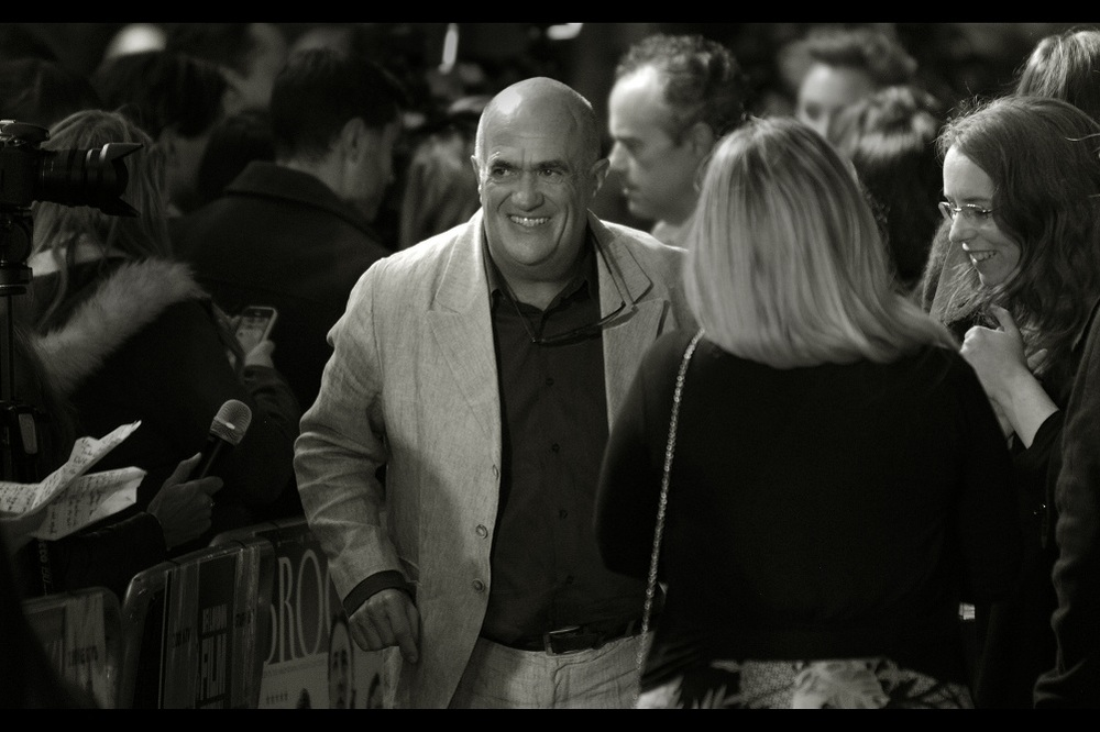 I believe this is Colm Toibin, the writer of the book upon which 'unnamed movie whose premiere is proving to be entirely horrendous' is based. I hear it's good.... if a little whiny.