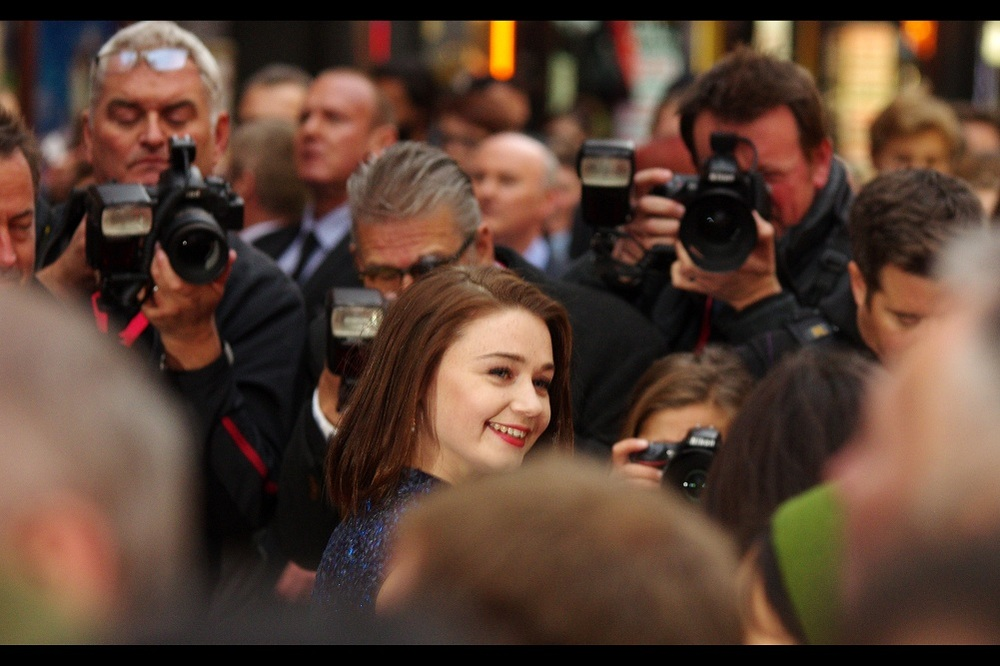 In my eagerness to photograph Rachel Weisz (and avoid being press-ganged into the service of 60 year old women willing to sacrifice you, me and any number of goats for a photo of Colin Farrell)... I kind of missed out on properly photographing actress Jessica Barden. Fortunately, I photographed her at the premiere of 'Far From The Madding Crowd' earlier in the year.