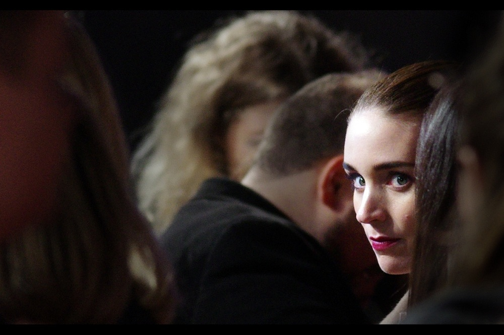 Long-range cropped shot of Rooney Mara, who was excellent in both her small role in The Social Network, and her larger starring role in  The Girl With The Dragon Tattoo  where I previously photographed her.