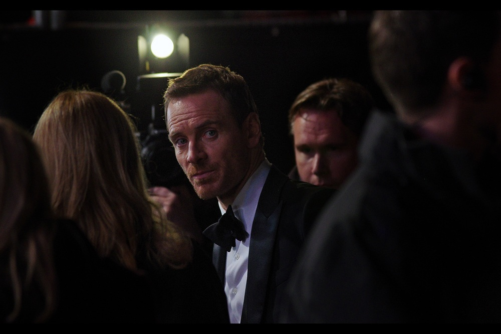 I've been taking photos of the side of Michael Fassbender's head for dozens and dozens of frames hoping he'd turn left. I'm not claiming I have psychic charisma, but I'm also not officially ruling it out. Even if Kate Winslet and I have at best shared twenty percent of a moment.