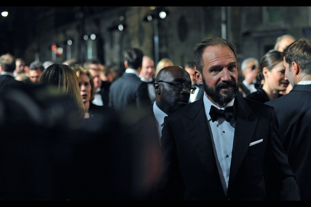 """Me? Shave? No.... I figured the beard suited the bow -tie better"" - Ralph Fiennes replaced Dame Judi Dench as 'M' in the last James Bond movie."