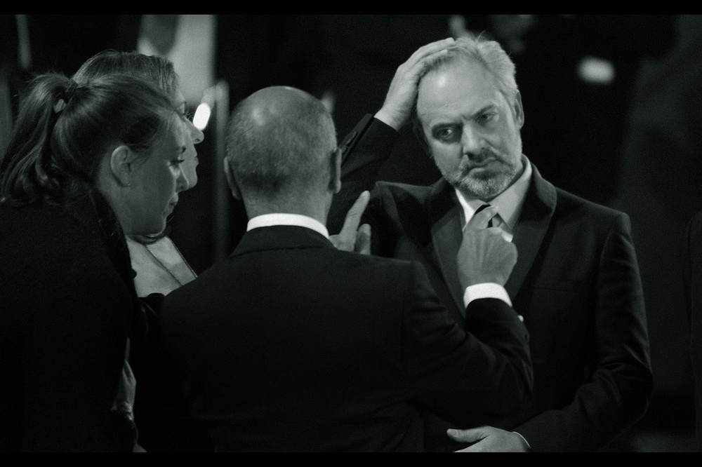 As we wait for the royals' car(s) and motorcade to arrive, I believe director Sam Mendes is chatting to the head of Sony Pictures worldwide. That man is probably offering Sam Mendes ALL THE MONEY to move on to directing an Amazing Spider-Man movie so that Sony can finally make that franchise work.