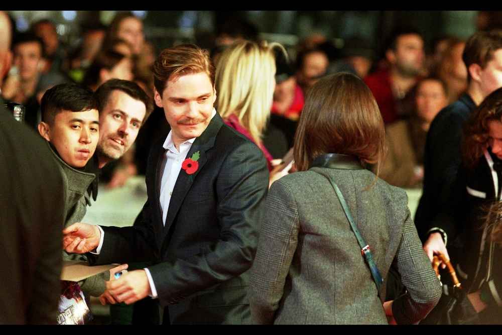 """The moustache is new, yes. But it was always there, hiding in the background, waiting to strike"".  Daniel Brühl was in Tarantino's Inglourious Basterds, but I last photographed him in 2013 at  the premiere of Ron Howard's 'Rush'"