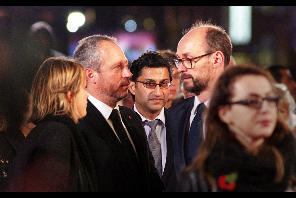 """Your hair looks atrocious. Admittedly there's not a lot that can be done with it, but you could have worn a sombrero, dude"". Asif Kapadia, centre, directed both the documentaries 'Senna' (about the late racing driver) and 'Amy' (about the late singer); and has won three BAFTAs."