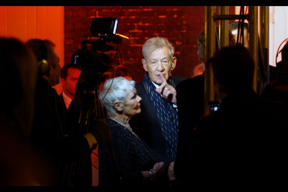 """Sssshhhh... he's carrying the two on this very important calculation"". Sir Ian McKellen is best known for playing Gandalf in all the Hobbit and Lord of the Rings movies, as well as Magneto in all the original X-Men Films. I last photographed him (and Captain Picard hugging) at the premiere of 'Mr Holmes' earlier this year."