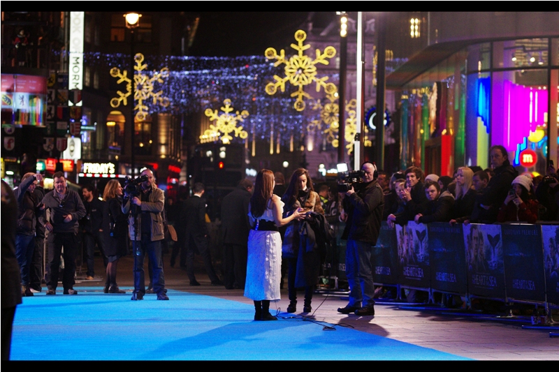 """Leicester Square is providing quite the Christmas vibe for this premiere... and what's more Christmassy than Whate Terror On The High Seas?"""