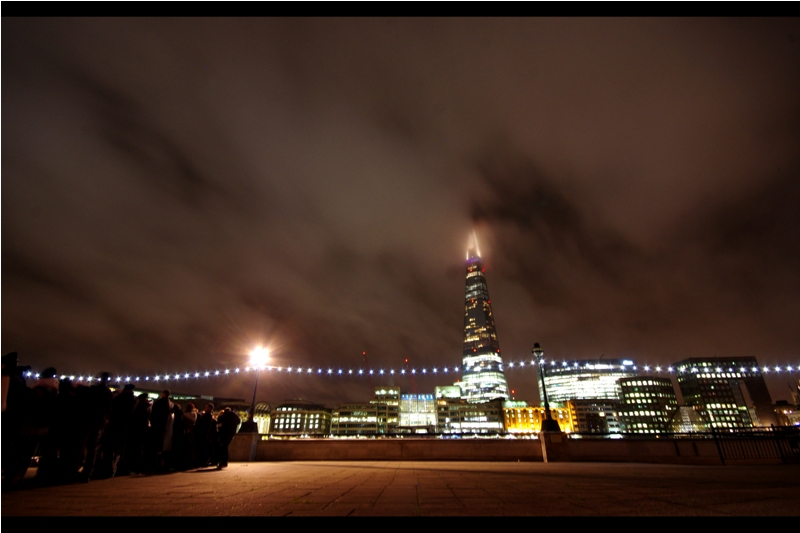 Right now things are going so well I'm taking cityscape shots of The Shard across the river while waiting for Stars to arrive. And I'm thinking: they should do this every year. (insert a second ominous drone of portent here)
