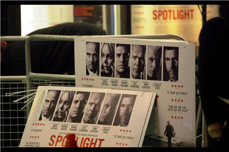 The movie is 'Spotlight' and it's got SIX Oscar nominations for this year's awards, including best picture, director, supporting actor and supporting actress. Devasatingly (for me), the best supporting actress nominee Rachel McAdams is not expected to attend tonight.