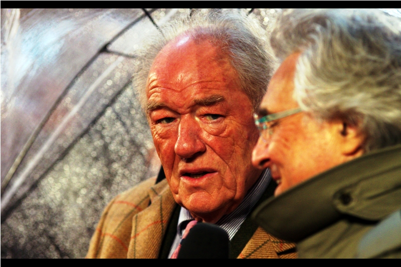 """Of course you were knighted for your services to Philately..."" ""... you mean Drama?"" ""Again... I probably should have figured that out""  Michael Gambon has won or been nominated for 3x more Olivier Awards than I've even attended!"
