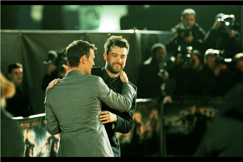 """As you can see, girls, I'm living your dreams and am hugging Matt Smith. Now... who wants to hug me and maybe catch some stray skin cells?"" Jack Whitehall is not in this movie, and/but I last photographed him last year at the premiere of ""Bad Education"""