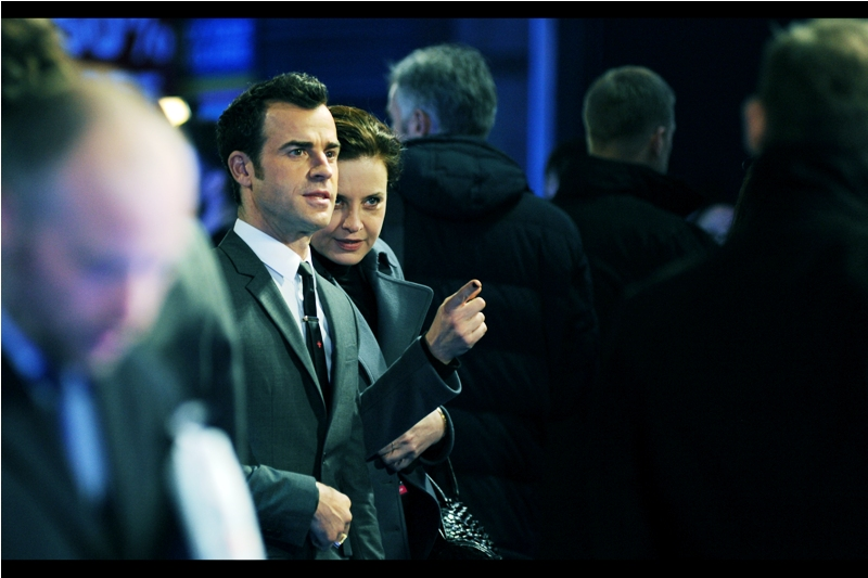 """That guy over there showed me some schematics for a quadruple-breasted business suit and bifurcated fractal tie. I think you should talk to him""  - Justin Theroux is one of several credited writers on this film, is married to actress Jennifer Aniston, and can more directly be blamed for writing the Iron Man 2 screenplay."