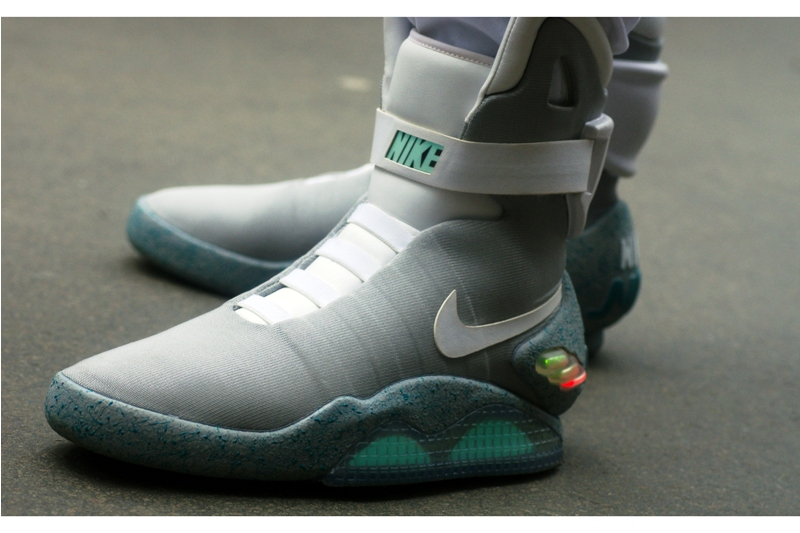 And – WOW – I've already found some fashion I can legitimately lust over : Marty McFly Back to the Future Part2 Power Laces Nikes. 1500 were sold at auction back in 2011 and even now they're over GBP2500 for a pair on ebay.