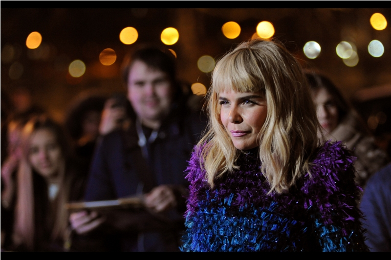 """If I'm never able to see another piece of written sheet music because of your flash barrage, my lawyers will be in touch. But yes... this feathery jumper is keeping me warm. Thanks for asking"" - Paloma Faith."