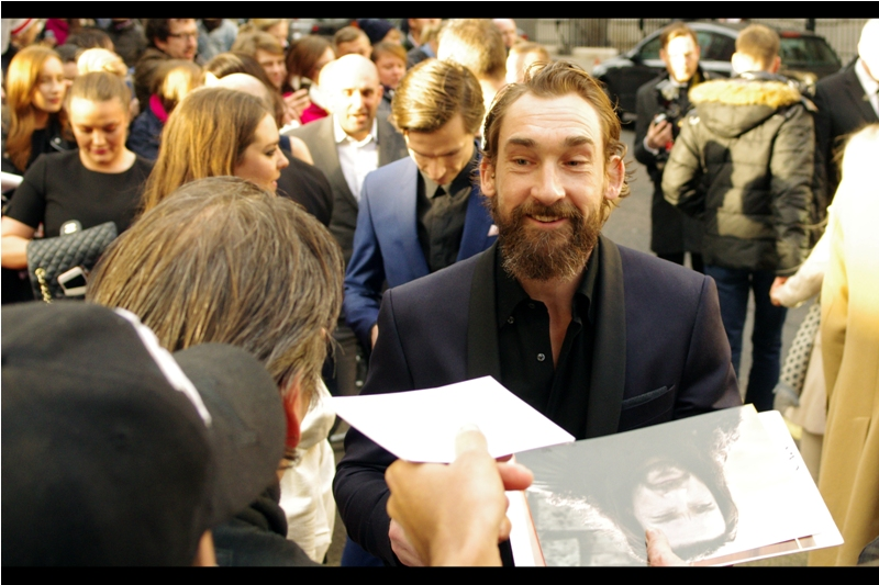 """The beard? My accountant recommends spinning it off into its own separate company, actually"".  Joseph Mawle is best known for being Thomas Lincoln in Abraham Lincoln Vampire Hunter, which in the four years since its release I have not yet found time or inclination to watch. He's also yet another dearly departed Stark in Game of Thrones (Benjen)."