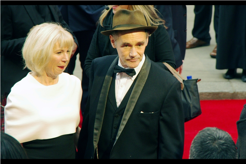 "Woohoo! I photographed Mark Rylance at the premiere of ""The Gunman"" last year, and he was in Steven Spielberg's ""Bridge of Spies"", for which he got a Best Supporting Actor Bafta AND Oscar this year. And possibly a hat."