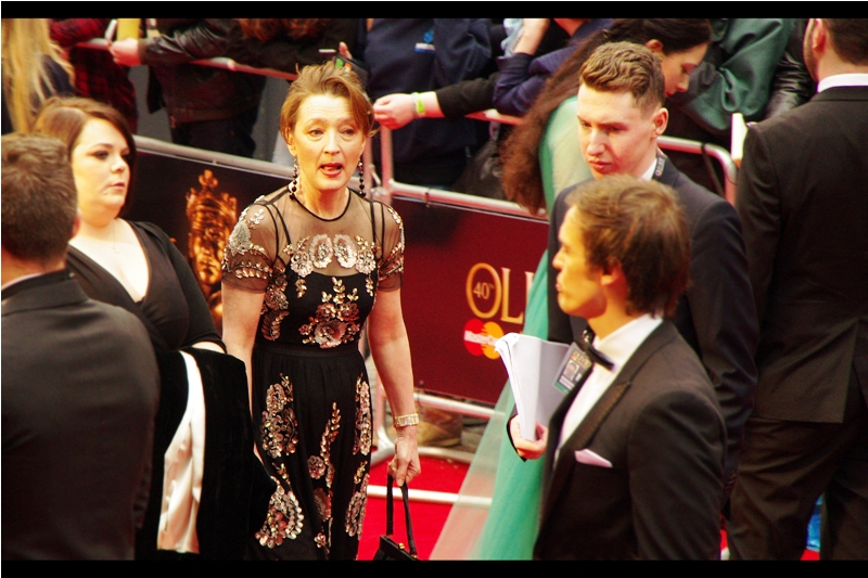 wireimage says : this is Lesley Manville I say : Batman v Superman Dawn of Justice is a piece of cinematic crap. But Lesley Manville's dress is nice, I guess.