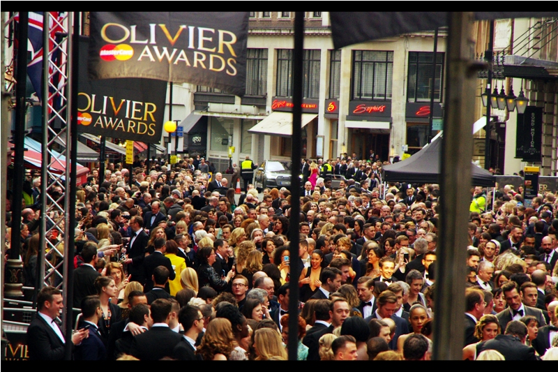 """Is this the queue for the popcorn or the softdrinks? Because I'm here for the Olivier Awards"""