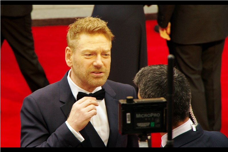 """I don't want the tie straight, I need it to match the angle of my hair! I can hardly change the angle of my hair at this late hour...."" Kenneth Branagh, as well as directing or being involved in films as diverse as Marvel's Thor, Jack Ryan Shadow Recruit , My Week With Marilyn and Harty Potter and the Chamber of Secrets, has FIVE Academy Award nominations to his credit."