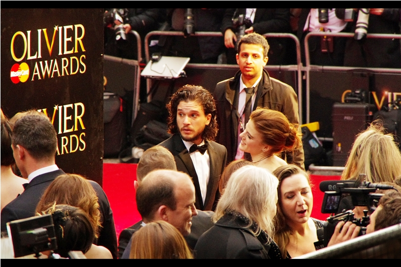 """I think my direwolf may be illegally parked"" . I've previously photographed Kit Harington (somewhat poorly) at the premieres of  ""Testament of Youth""  and  ""The Game of Thrones s5 launch"" , and Rose Leslie at the premiere of  ""The Last Witch Hunter"""