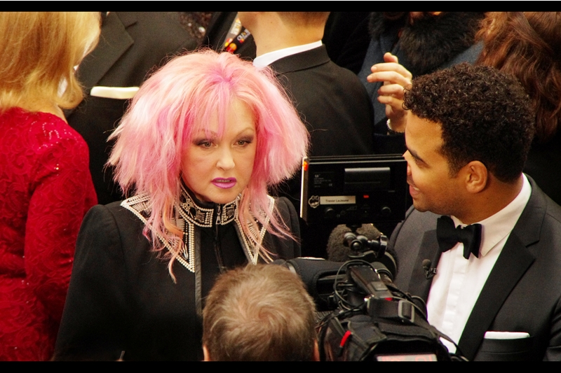 """So.....Miss Lauper"" ""You're going to ask about the hair, aren't you?"" ""No. Actually I just think your collar is a bit severe....""  way back in the day when I was a wee lass growing up in the 1980s, I might have known who Cyndi Lauper is. I mean was."