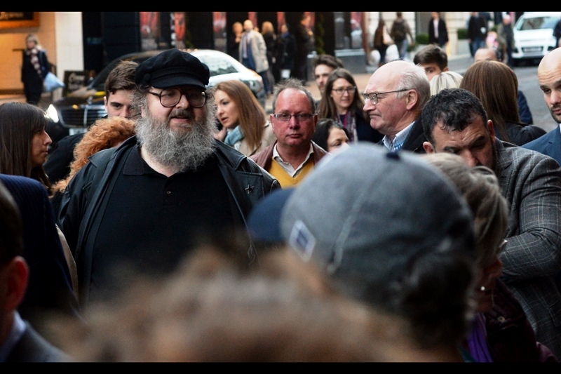 I wouldn't have thought Game of Thrones cosplay would extend so far as people dressing up as author George R.R. Martin, but.... well... there you have it.