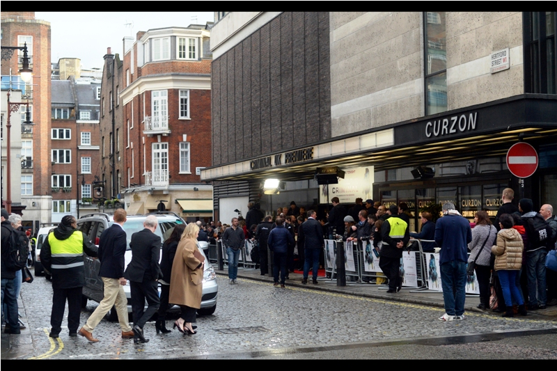 So this is the Curzon Mayfair. When I arrived, my numer in the queue was#121, and I'd gone to a late 3pm lunch and returned to find that I'd missed wristbands being handed out. And there were only 100 of them anyway. Great start...