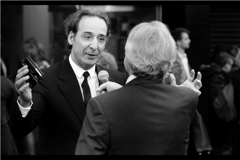 """For this movie, I basically composed a beautiful score... and then in honour of Florence, I started putting in jarringly wrong notes every third or fourth bar"" ... Alexandre Desplat also composed (and won an Oscar for) ""The Grand Budapest Hotel"", while also composing  Monuments Men ,  The Danish Girl  ,  The Imitation Game  and  Unbroken ."