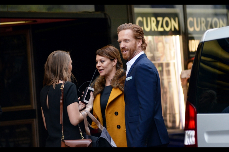 """She's wearing my coat. Had I been the one wearing it, it would have really brought out the blue in my eyes"". Damian Lewis is best known for being in the TV Series ""Homeland"" and throwing cool gang signs at me a couple of Baftas ago. AND he's also in this movie."