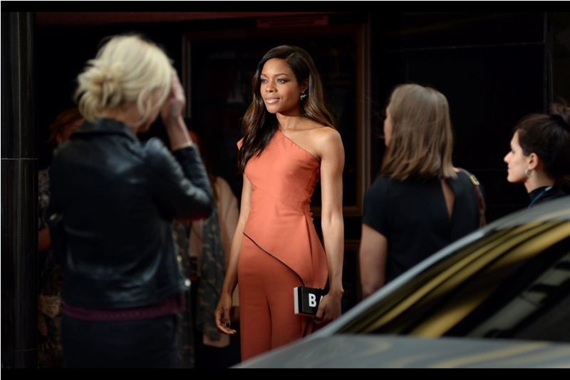"""If you want to crop the photo so it looks more like I'm wearing a dress, please do so""  - Naomie Harris is best known for playing the part of Miss Moneypenny in the recent James Bond films  ""Skyfall""  and  ""Spectre"""