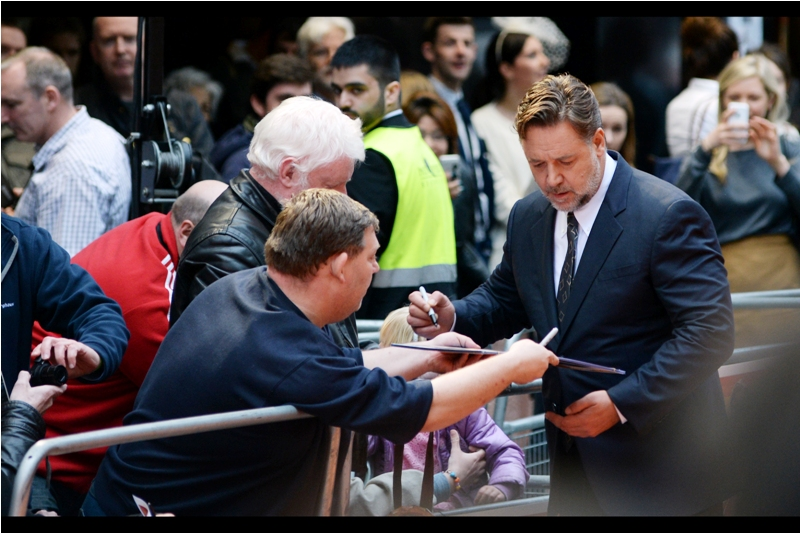 """I wasn't in Avatar, that was Sam Worthington. But I can sign it saying I like it, if you want?""  Australia's Own Russell Crowe is still Australia's Own whenever he's not punching people or throwing thing. When he does that, he's just a typical New Zealander..."