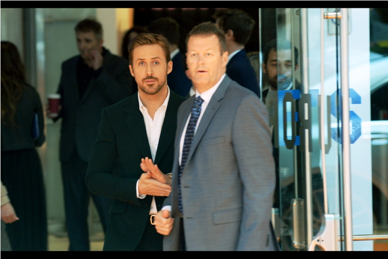 """Five to ten minutes later....our man Gosling reappears, to the screams of estrogen-fuelled banshees brandishing double-XX chromosomes. there are a couple of us guys here, kind of just uncomfortably going """"yeah, he's a pretty good actor....'Drive' was really good'"""