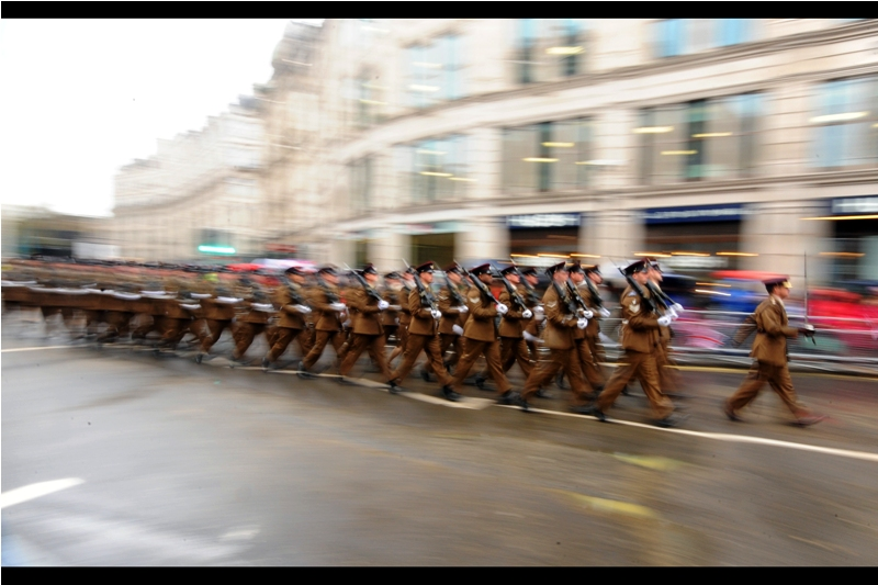 I'm going to be honest, not a lot of what follows makes much narrative sense. However, at least the 30% of participants in the parade who were from the armed forces wanting to Recruit You To Their Cause had a clear objective. And that at least was helpful.