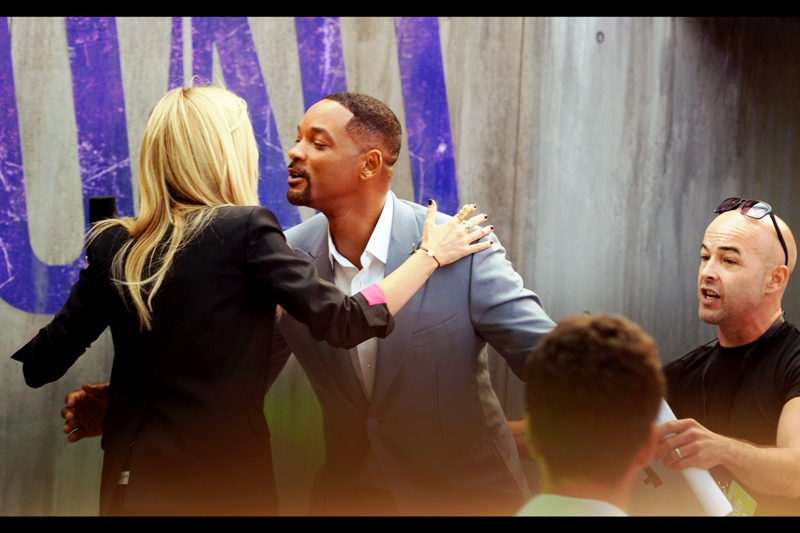 The precise distance for a perfect air-kiss continues to elude me, personally, but Will Smith has it pretty much right. And Will Smith plays the character Deadshot in this film.