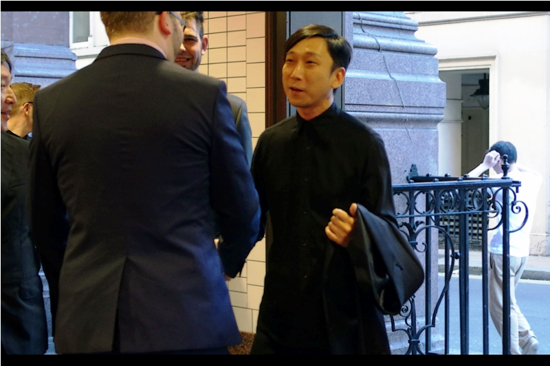Excitingly, my strategy of hastily photographing anyone entering the building has worked : a few hours later I'm home and can confirm (?) this as Takeshi Nozue, the director of this film (and co-director of Final Fantasy VII : Advent Children (2005))