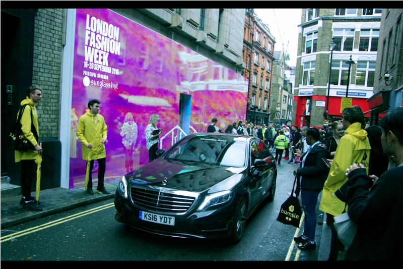I still can't decide whether holding London Fashion Week in a parking garage within a labyrinthine maze of narrow one-way streets in Soho is an incomprehensibly stupid idea, or a kind of strange and ironic self-aware genius. Given we're talking about fashion, here.