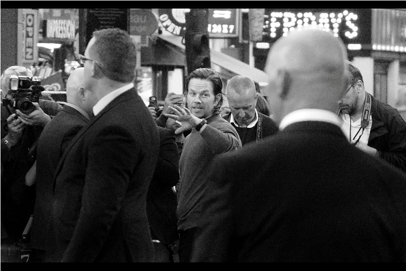 """Wassup people?""  Mark Wahlberg is probably no longer best known or being lead of The Funky Bunch, or perhaps loosely as the guy whose life influenced the TV series Entourage. I last photographed him at  last year's premiere for ""Daddy's Home"""