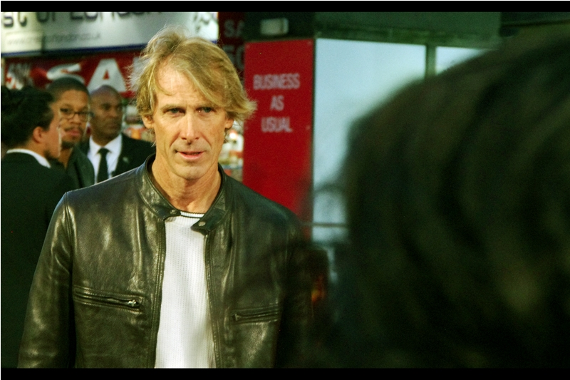 """I would've made the oil spill explosion visible during daylight hours on Jupiter and have it tear a hole in the planet, but I guess Peter had to stick to reality...."" - Michael Bay, director of the currently-filming-in-London Transformers 5, showed up at this premiere! I last (only ever) photographed him at the premiere of Transformers Revenge of the Fallen in 2009."
