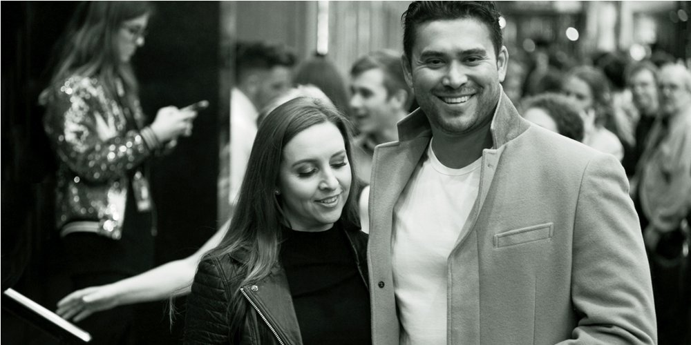 Jill Morgan (?) and Rav Wilding (TV Presenter)