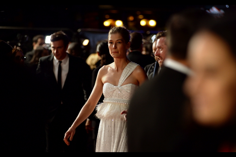 I've now photographed Rosamund Pike at premieres as diverse as  'The World's End'  and  'What We Did On Our Holiday ', while not photographing her at premieres as diverse as Gone Girl, Johnny English Reborn, Wrath of the Titans and Tomorrow Never Dies.