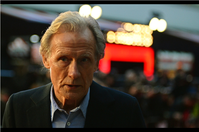 "Bill Nighy is actually one of the few actors who has a track in my iTunes library, owing to his presence on the soundtrack of ""Love, Actually"""
