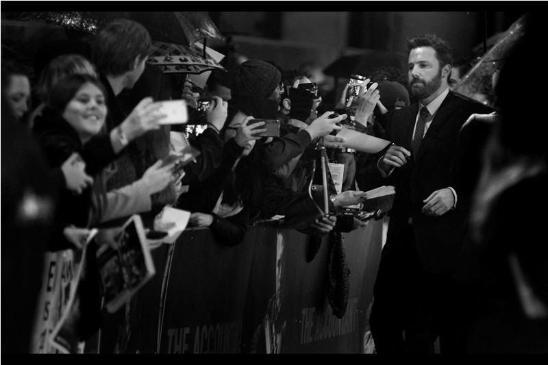 "It's Batman (I'm sorry ""The Batman"") himself - Ben Affleck! I'd harboured faint hopes of getting a photo I took of him at the premiere of Argo back in 2012 signed by the man, but sadly (a) I couldn't find it (b) Snappy Snaps' same day processing for 18x12 enlargements verges mildly on the extortionate, (c) It was raining and (d) he didn't sign in our area anyway."