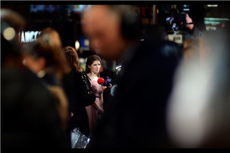 I've photographed Anna Kendrick twice before if memory serves, and neither particularly well or at close range. Once was a few years back from a different storey at the 'What to Expect when you're Expecting' premiere, and earlier this year (again from a different storey) at the 2016 TV Baftas.
