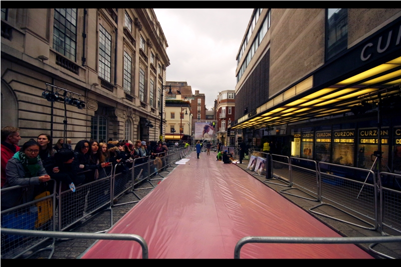 It's a Curzon Mayfair premiere, and fortunately for all concerned they closed the road to traffic and laid a carpet, which always makes for a better premiere. As would a snackbar and coffee machine, but they don't provide those.
