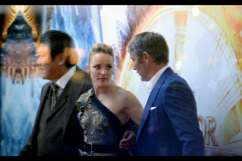 Benedict Wong and Mads Mikkelsen join Rachel McAdams, and the extent of my troubles become more evident : photographers' incidental flashes inside will better light my photos, but might cause all kinds of trouble with detail, movement and reflections.