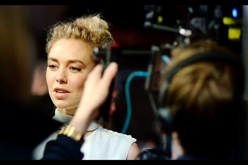 """I get the feeling there might have been a further ulterior motive behind all that"" - Vanessa Kirby was also in (but not at the premiere of) this year's 'Me Before You'"