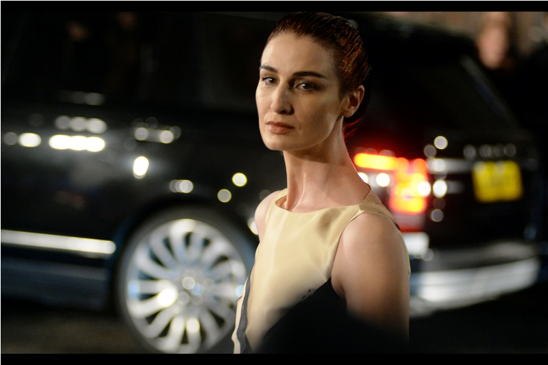 I believe this is model Erin O'Connor, and I also believe that's a look of disdain aimed at me that might penetrate beyond just my immediate life choices.