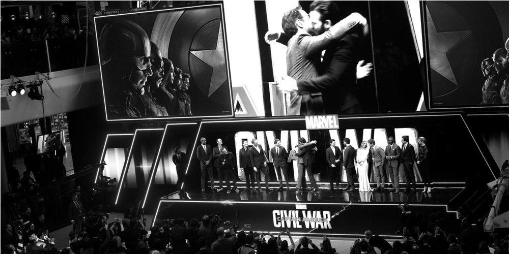 April 26th :  'Captain America : (far too) Civil (not really a) War'  - I thought it was one of the most cowardly movies I've seen in a long time. I walked out with fifteen or twenty minutes to go because I no longer gave a crap about these characters. Nice job, Disney.