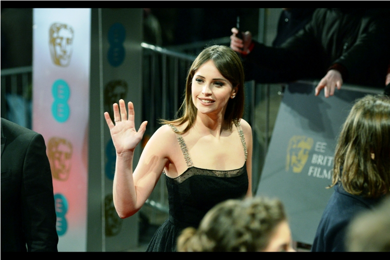 """No... I think I'll do my high-fives from a safe distance, thanks""  Felicity Jones was also in Rogue One, but I'm not mad at her. She's pretty."